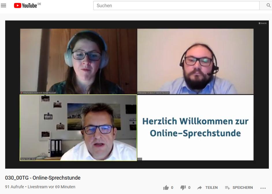 Online-Sprechstunde zum Salzstock Börger