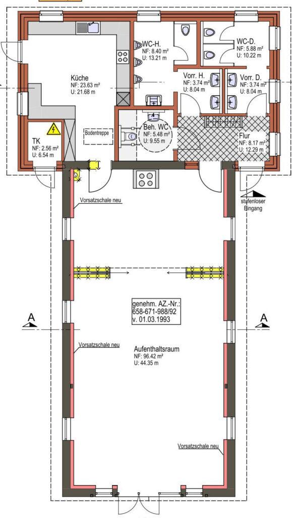 Plan des Umbaus am Heimathaus