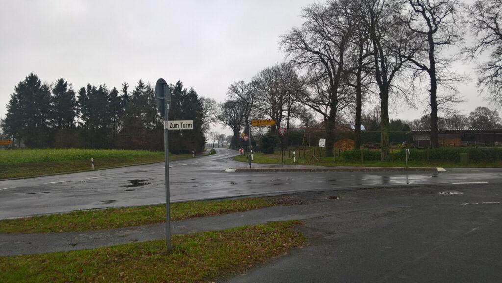 Beginn der K114 auf dem Heyenhorst