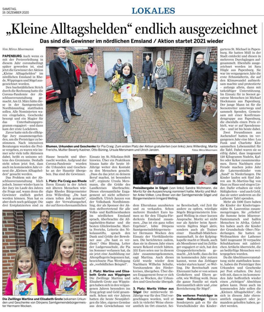 Ems-Zeitung vom 19.12.2020