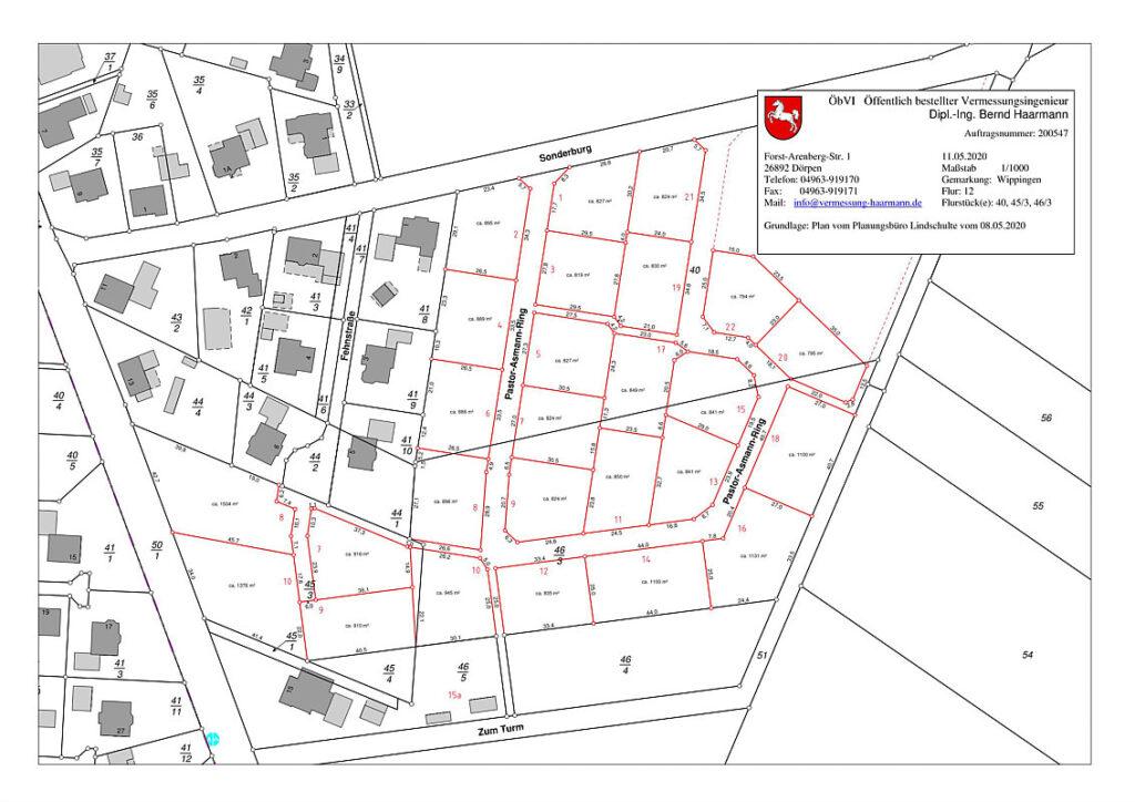 """Bauplätze in Baugebiet Baugebiet """"Sonderburgstraße/ Erweiterung Fehnstraße"""""""