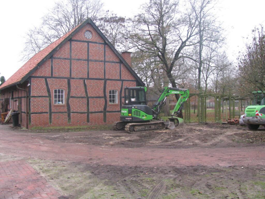 Erdarbeiten nach dem Abriss