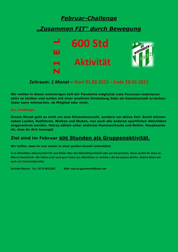 Flyer SV Wippingen 02/2021