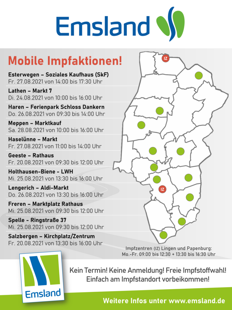 Mobile Impftermine im Emsland
