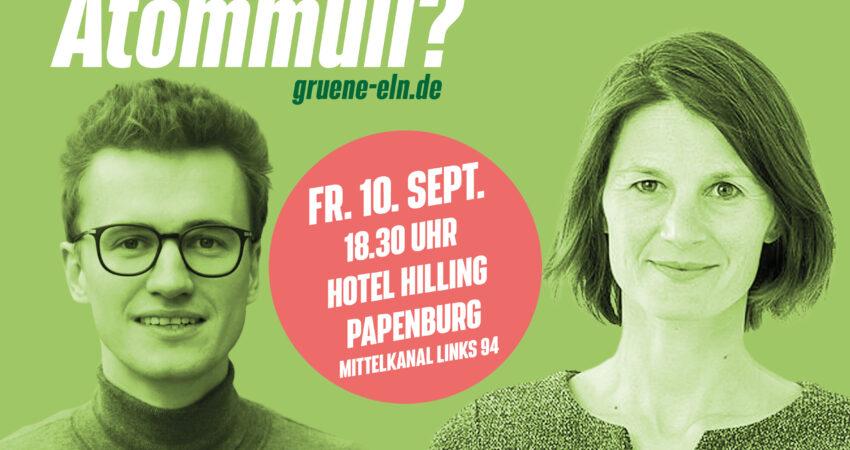 Logo zur Diskussionsveranstaltung der Grünen mit Miriam Staudte